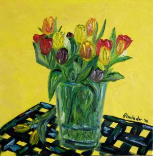 016. Tulipany